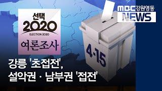 R]영동지역 박빙 승부, 강릉 초접전