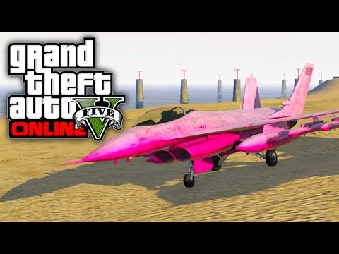 GTA 5 Online: How To Get A Pink Fighter Jet (GTA V)