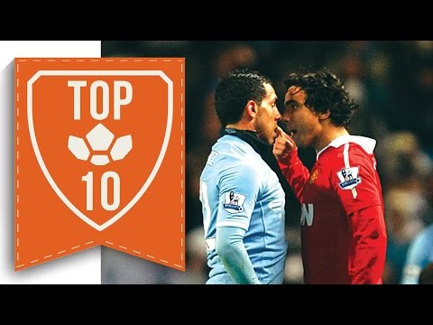 TOP 10 Shocking Moments Between Man United and Man City