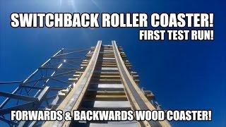Switchback Roller Coaster First Test Run POV ZDT Amusement Park Texas