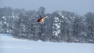 CRAZY RC PILOT+BO105 RC HELICOPTER+A LOT OF SNOW