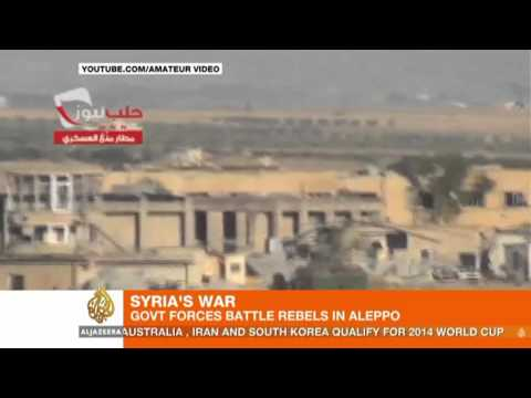Rebels and military battle in Aleppo