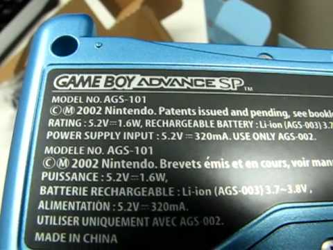 Gameboy Advance SP - European AGS-101 Model (Backlit) Unboxing