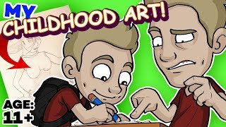 REACTING to my CHILDHOOD ART!