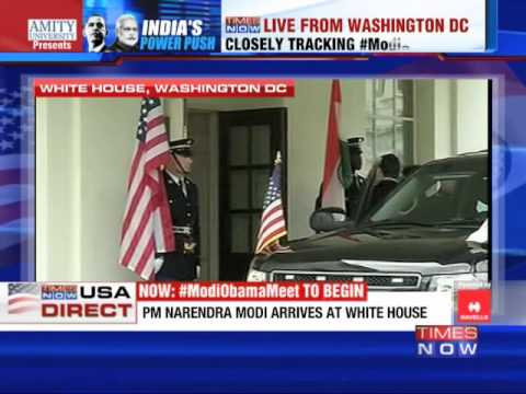 Narendra Modi arrives at White House