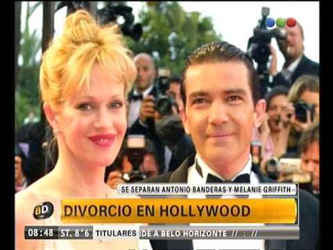 Separación de Antonio Banderas y Melanie Griffith - Telefe Noticias