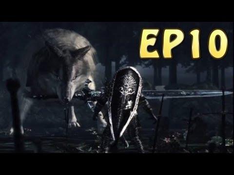 Dark Souls Walkthrough - Great Wolf Sif & Character Stat/Item BreakDown (EP10)