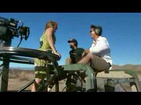Mythbusters can a machine gun chop off a tree MINIGUN!!!