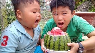 Đồ chơi trẻ em bé pin làm sirô dưa hấu ❤ PinPin TV ❤ Baby toys watermelon