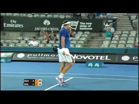 Marinko Matosevic v Simone Bolelli highlights (1R) - Apia International Sydney 2015