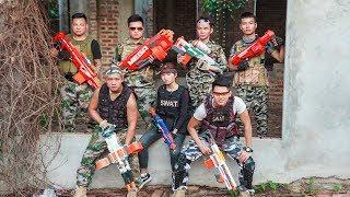 LTT Nerf War : Captain SEAL X Warriors Nerf Guns Fight Criminal Group Bandits Nerf Elite Mega