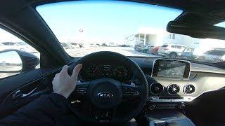 2018 Kia Stinger GT Line POV Test Drive