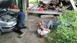 Chainsaw Prank Causes Friend to Faint