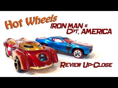 Hot Wheels Iron Man & Captain America Up-Close; Marvel 2014 Car Review
