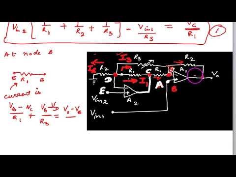 Two op amp instrumentation amplifier derivation thumbnail