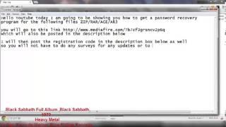 How To Remove Passwords on RAR,ZIP Files FREE (MediaFire)