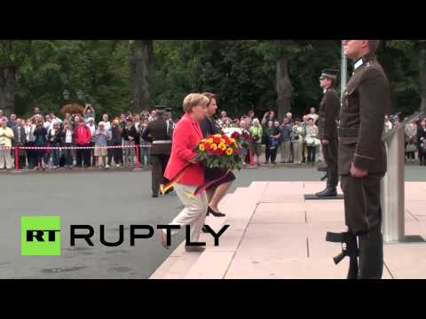 Latvia: Merkel and Straujuma meet for talks in Riga