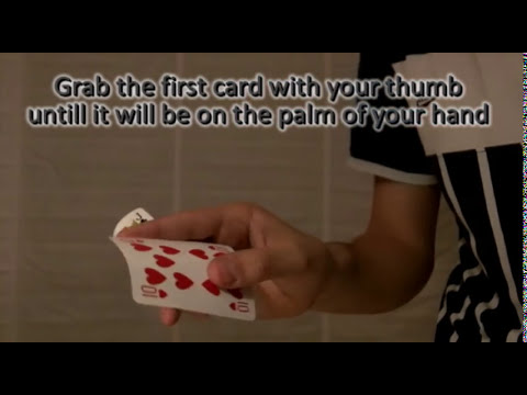 Easiest card production TUTORIAL - magic tricks revealed - make card appear in hand