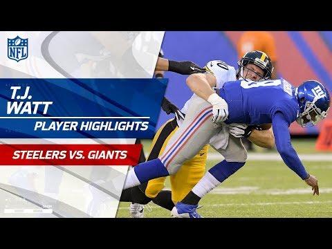 T J Watt S 2 Sacks In Debut Game Steelers
