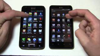 Samsung Galaxy S II Skyrocket vs. HTC Vivid Dogfight Part 1