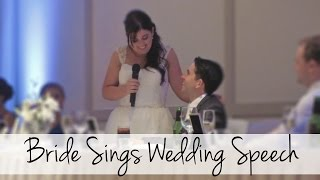 Bride Surprises Everyone and Sings at her Wedding! (Disney Inspired)