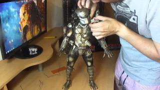 Neca Predator Figure 1/4 18' Inch Scale Review Masked Version - http://figurascontra.blogspot.com