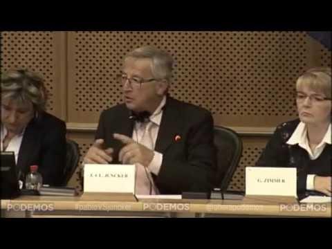 Pablo Iglesias pregunta en eurocámara a J.C. Juncker  (09-07-2014)