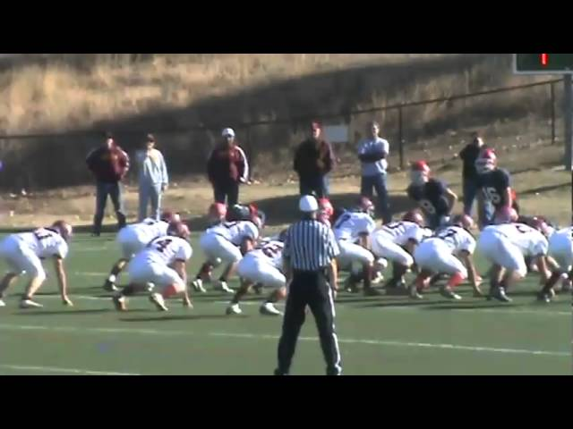 11-27-10 - Conner Weisser backs his way for 6 (Brush 13, Kent Denver 0)