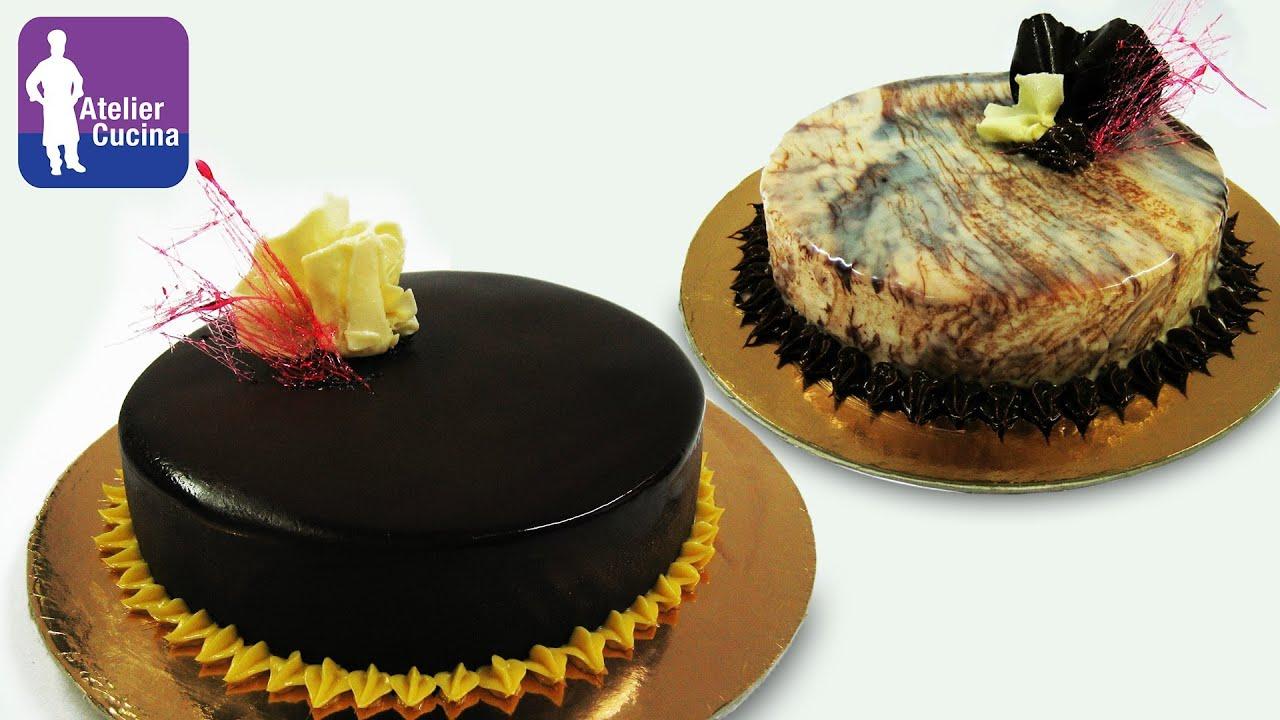 Come preparare e utilizzare la glassa a specchio al for Torte di compleanno al cioccolato decorazioni