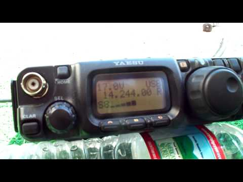 Solar Powered Ham Radio QRP ME to MA 20m SSB (2.5 watts)
