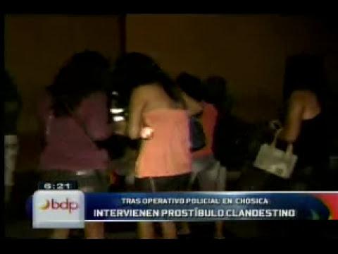 Chosica: intervienen prostíbulo clandestino y hallan diez menores de edad