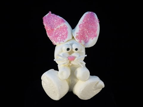 How to Make Marshmallow Bunny Pops for Easter via gk-howto-videos.blogspot.com easter recipes