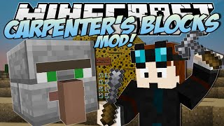 Minecraft | CARPENTER'S BLOCKS MOD! (Trayaurus' Cheese House!) | Mod Showcase