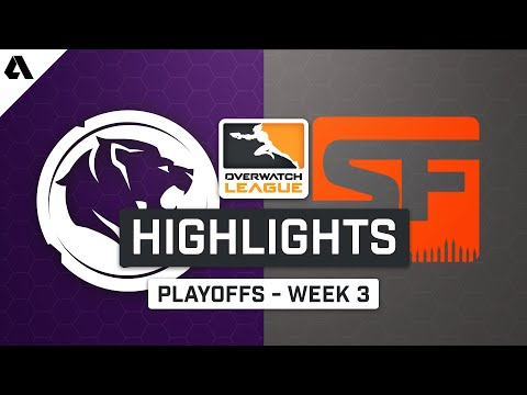 LA Gladiators vs San Francisco Shock | Playoffs Week 3 | Day 1 - Overwatch League S2 Highlights