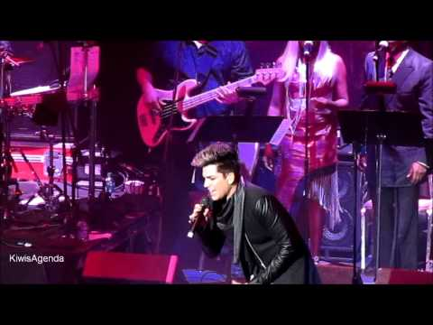 Adam Lambert with Nile Rodgers WHATAYA WANT FROM ME We Are Family Foundation NYC 1.31.2013 Music Videos