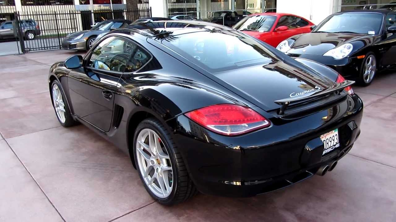 2009 Porsche Cayman S Pdk Black Full Leather Sport Chrono Navigation Beverly Hills Porsche Sold