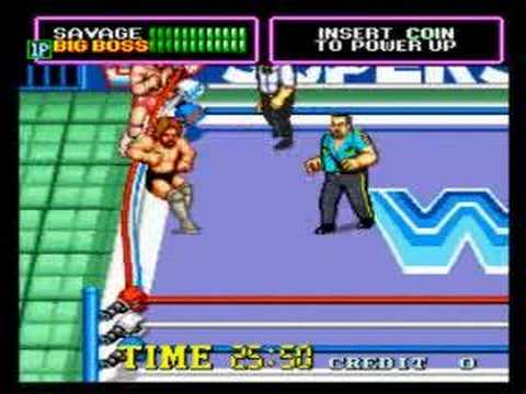 WWF Superstars Arcade - Completed, 1 credit, 1 bar damage