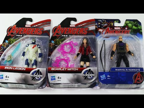 Avengers Action Figures: Iron Legion, Scarlet Witch and Hawkeye