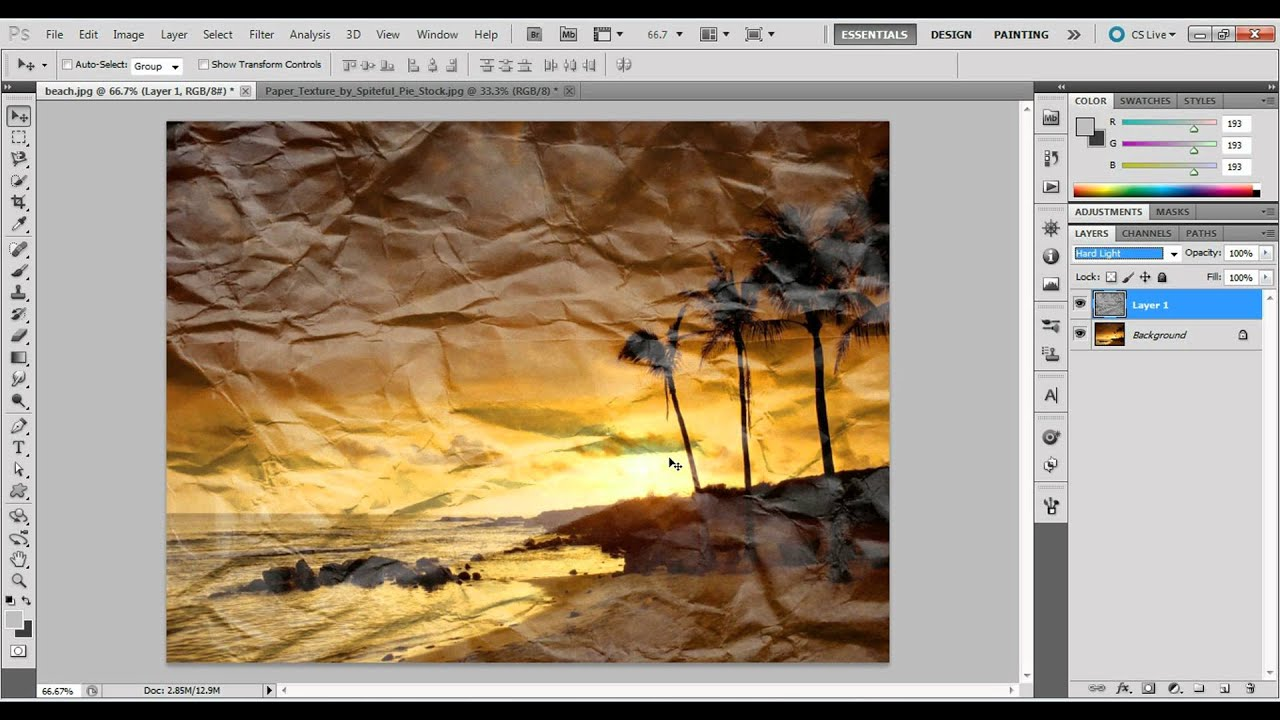 Как сделать эффект бумаги в фотошопе