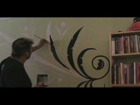 In this video, I show you how to make a hand painted wall tattoo from