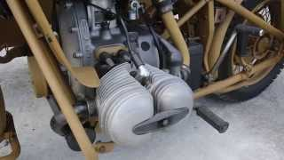 WWII BMW R75 Engine idling
