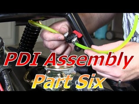 TaoTao ATM50-A1 Chinese Scooter PDI Assembly Part 6 : Fuel Supply And Hoses