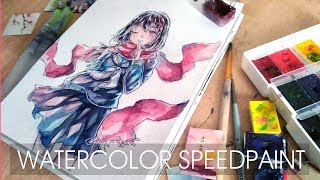 Watercolor Painting Timelapse Manga Kagerou Projekt