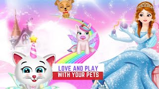 Fun Kids Game - Unicorn Princess Dreamland Baby Pet Care & Dress up - Games For Kids