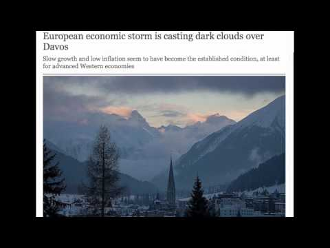 European economic storm is casting dark clouds over Davos