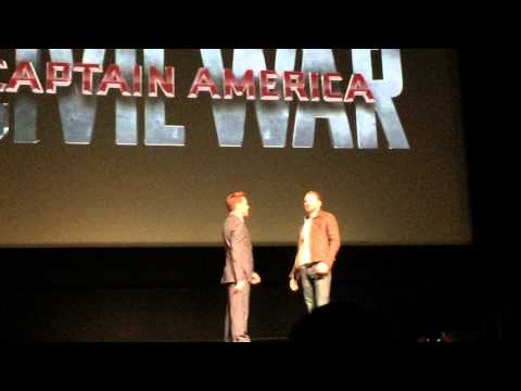 Robert Downey Jr. and Chris Evans Intro To Avengers 3 INFINITY WAR PART I &2