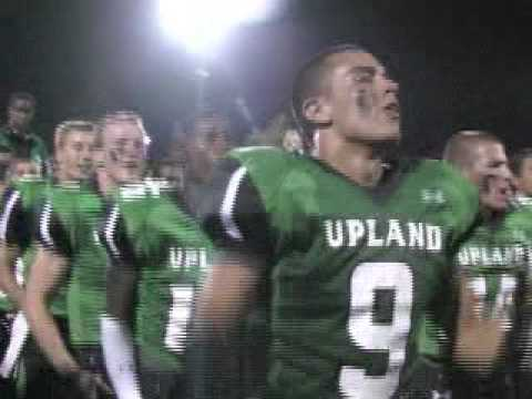 The Upland Highlanders perform The Haka along with Highlander jumping jacks before and after their 10-3 win over Glendora. 9-11-09.