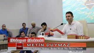 Metin Duymaz - Yirmi Sekizinci Mektup - Beşinci Risale Olan Beşinci Mesele