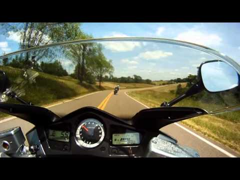 Honda VFR 800 following  GSXR