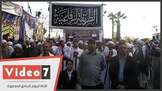 """بالفيديو.. وصول موكب """"الرفاعية"""" إلى مسجد الرفاعى للاحتفال بالليلة الختامية للمولد"""